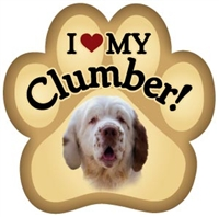 Clumber Paw Magnet for Car or Fridge