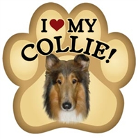Collie Paw Magnet for Car or Fridge