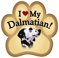 Dalmatian Paw Magnet for Car or Fridge