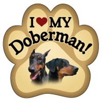 Doberman Paw Magnet for Car or Fridge