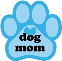 Dog Mom Paw Magnet for Car or Fridge