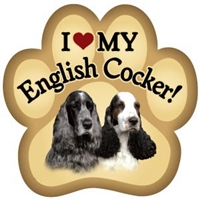 English Cocker Spaniel Paw Magnet for Car or Fridge