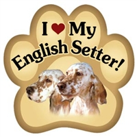 English Setter Paw Magnet for Car or Fridge