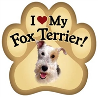 wire Fox Terrier Paw Magnet for Car or Fridge