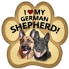 German Shepherd Paw Magnet for Car or Fridge