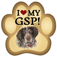 German Shorthair Pointer Paw Magnet for Car or Fridge