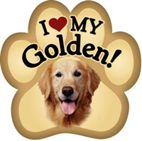 Golden Retriever Paw Magnet for Car or Fridge