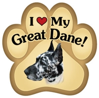 Great Dane Paw Magnet for Car or Fridge