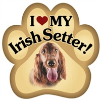 Irish Setter Paw Magnet for Car or Fridge