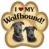 Irish Wolfhound Paw Magnet for Car or Fridge