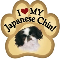 Japanese Chin Paw Magnet for Car or Fridge