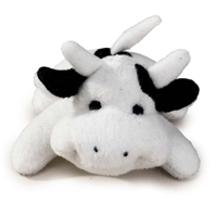"Plush Cow ""Moo"" Dog Toy at SaltyPaws.com"