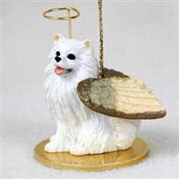 American Eskimo Angel Ornament
