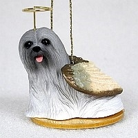 Lhasa Apso Angel Ornament