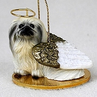 Pekingese Angel Ornament