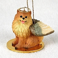 Pomeranian Angel Ornament