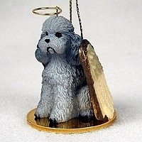 Poodle Angel Ornament