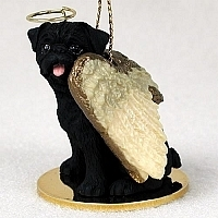Pug Angel Ornament