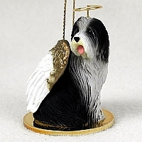 Bearded Collie Angel Ornament