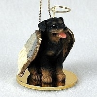 Rottweiler Angel Ornament