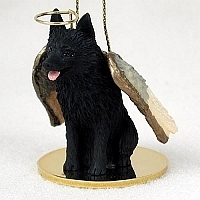 Schipperke Angel Ornament
