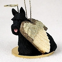 Scottish Terrier Angel Ornament