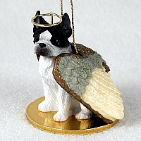 Boston Terrier Angel Ornament