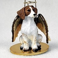 Brittany Spaniel Angel Ornament