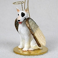 Bull Terrier Angel Ornament