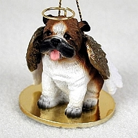English Bulldog Angel Ornament