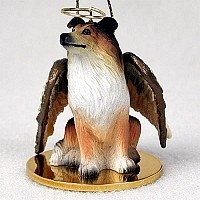 Collie Angel Ornament