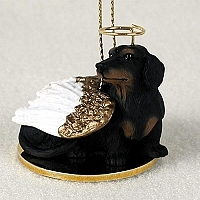 Dachshund Angel Ornament
