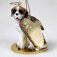 Saint Bernard Angel Ornament