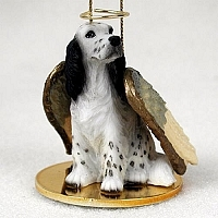 English Setter Angel Ornament