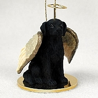 Flat Coated Retriever Angel Ornament