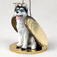 Siberian Husky Angel Ornament