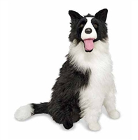 Border Collie Life-Size Plush SaltyPaws.com