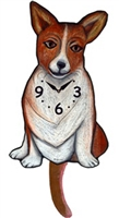 Corgi Wagging Tail Clock www.SaltyPaws.com