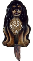 Cavalier King Charles Spaniel Wagging Tail Clock www.SaltyPaws.com