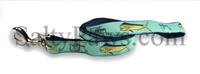 Guy Harvey Seafoam Green Bull Dolphin Dog Leash SaltyPaws.com