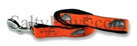 Guy Harvey Orange Large Mouth Bass Dog Lead SaltyPaws.com