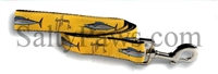 Guy Harvey Yellow Wahoo Fish Dog Lead SaltyPaws.com