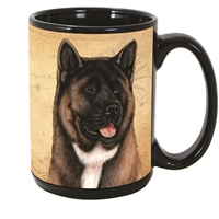 Akita Coastal Coffee Mug Cup www.SaltyPaws.com