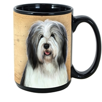 Bearded Collie Coastal Coffee Mug Cup www.SaltyPaws.com