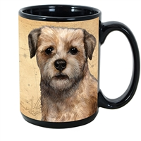 Border Terrier Coastal Coffee Mug Cup www.SaltyPaws.com