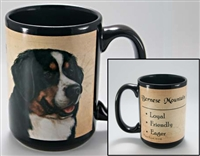 Bernese Mountain Dog Coastal Coffee Mug Cup www.SaltyPaws.com