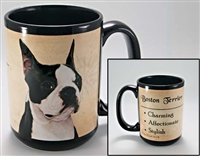 Boston Terrier Coastal Coffee Mug Cup www.SaltyPaws.com