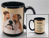 English Bulldog Coastal Coffee Mug Cup www.SaltyPaws.com