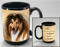 Collie Coastal Coffee Mug Cup www.SaltyPaws.com