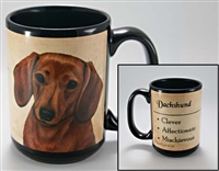 Dachshund Red Coastal Coffee Mug Cup www.SaltyPaws.com